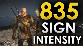 835% Sign Intensity! - The Witcher 3 (Tutorial/Build/Gameplay)
