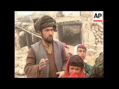 AFGHANISTAN: GHANJI: AID ARRIVES FOR EARTHQUAKE VICTIMS