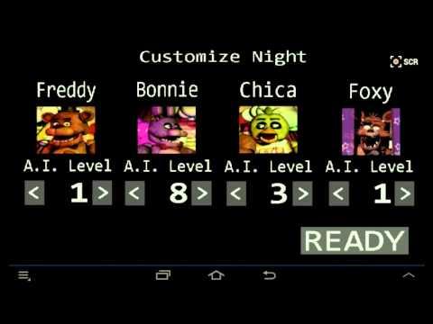 Secret Code in FNAF custom Night