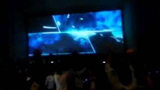 Theri earth shattering Response for Title card ilayathalapathy vijay in chennai woodlands theatre