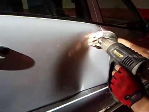 Как убрать вмятину на машине без покраски своими руками