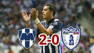 Monterrey vs Pachuca 2-0 jornada 13 Apertura 2017