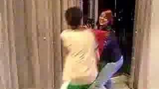 Guy vs Girl fight: Gets hit in balls!
