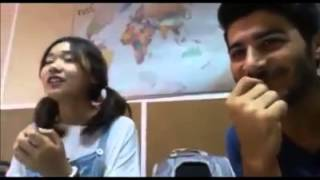 Çinli kız kürtçe şarkı söylüyor