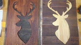 Rustic Pallet Upcycle Deer Head Sign