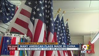 Many American flags made in China