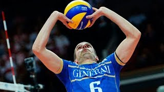 Excellent Back Set   Toniutti   France VNL   Volleyball  