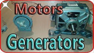 Washing machine motor generator wiring