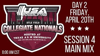 2018 USA Powerlifting Collegiate Nationals - Session 4 - Friday AM