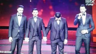 لحضة اعلان الفائز في عرب ايدل الموسم 4