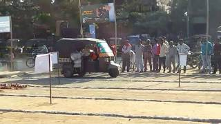 Open three wheeler auto power challenge competition for all auto by bajaj maxima