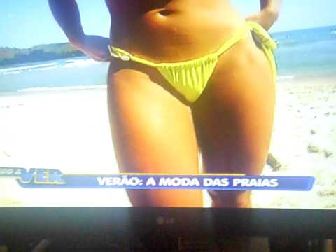 Morena Gostosa Agata mostrando tudo Moda Praia 2012.