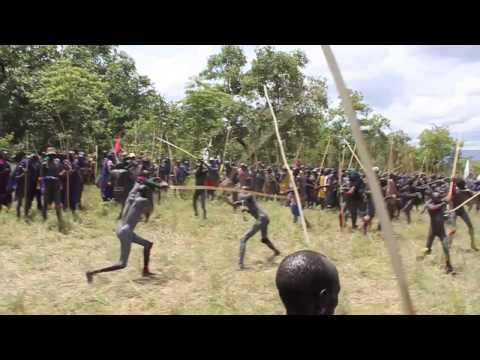 Donga Fight Authentic Donga stick fight in the Omo Ethiopia