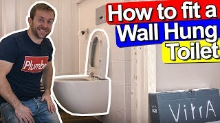 HOW TO FIT A WALL HUNG TOILET - CONCEALED FRAME - Vitra auto flush