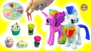Making Tiny Clay Cupcakes For My Little Pony Shining Armor + Princess Cadance MLP