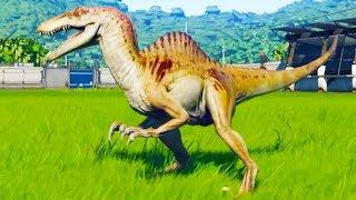 Maximum Level Spinoraptor Vs All Carnivores in Jurassic World Evolution