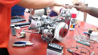 Making  a electric starter on generator