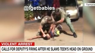 Video Shows Cop Slam Teen's Head Into The Ground Again And Again!