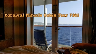 Carnival Miracle Cabin 7301 Premium Balcony