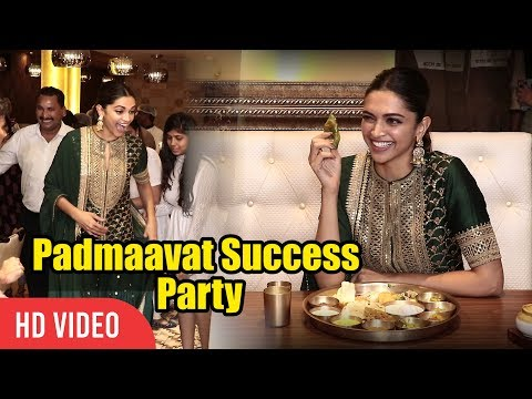 Padmaavat Success Party | Dinner Party With Deepika Padukone | Rajasthani Style Full Video