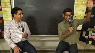 Sal Khan chats with Google CEO Sundar Pichai
