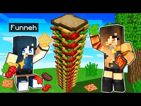 Making the TALLEST Sandwich in Minecraft
