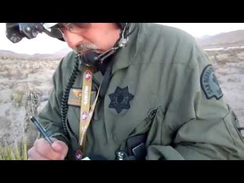Helicopter Sheriff lands to search girl collecting rocks in desert