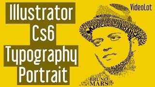 Adobe Illustrator Cs6 | Typography Portrait | Bruno Mars