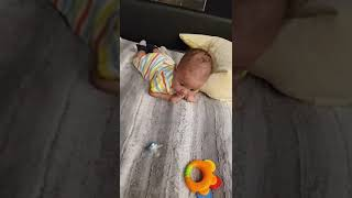Mixed baby boy  Tummy time . Please like me for more videos