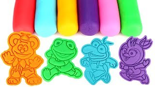 Muppet Babies Play Doh Fun Learn Colors with Baby Kermit Piggy Fozzie Animal Gonzo Summer Penguin