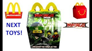 NEXT McDONALD'S HAPPY MEAL TOYS LEGO NINJAGO MOVIE EMOJI BOOKS MLP MY LITTLE PONY MOVIE TRANSFORMERS