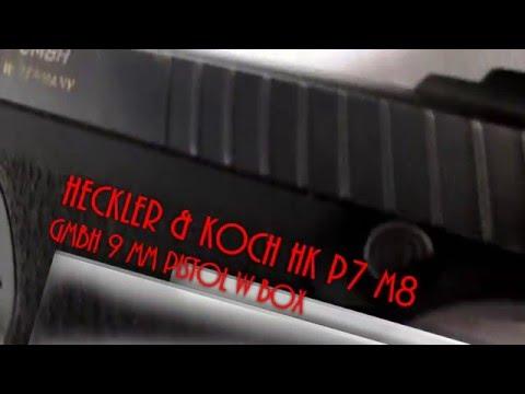 Heckler & Koch HK P7 M8 GMBH 9 MM Pistol W BOX