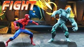 Super Hereos Spiderman Vs Adaptoid    Marvel Superheroes Marvel Fight #20