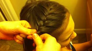 Side French Braid Hair Tutorial **For Beginners**