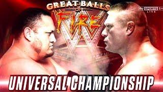 Brock Lesnar VS Samoa Joe - Great Balls of Fire 2017 (wwe universal championship)