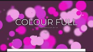 Floating Colours  Background . HTML/CSS