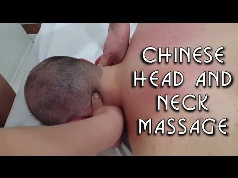 Chinese Girl powerful Head Neck and Back Massage - ASMR video