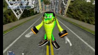 Blitz Sonic : Vector the Crocodile Sonic Heroes Ripped model in City Escape