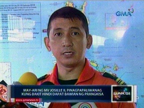 Saksi: May-ari ng MV Josile II, pinagpapaliwanag kung bakit 'di dapat bawian ng prangkisa