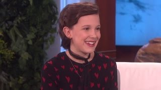 Millie Bobby Brown Reveals Sleepover DISASTER With Maddie Ziegler On Ellen Show Debut