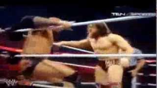 Wwe raw 10/03/2014.      Batista vs Daniel brain . Randy ortan , Kane, HHH INTERCORRPTED.....
