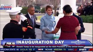 HISTORIC MOMENT: The Trumps Arrive at White House on Inauguration Day and are Greeted by Obamas