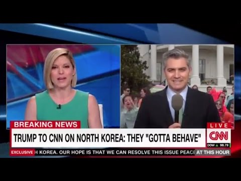Kid Yells Fake News to CNN Reporter Live on Air