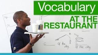 Basic English vocabulary for restaurants