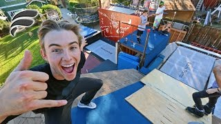 HOMEMADE SUPER TRAMPOLINE PARK!