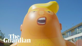 Trump Baby blimp prepares for takeoff: