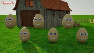 Учим цвета  Разноцветные яйца на ферме  Развивающий мультик для детей