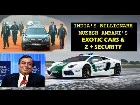India's Billionare Mukesh Ambani's Exotic Cars and His Personal Z+ Security | Gaurav Car Vlogs