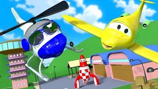 Penny the Airplane is Missing in Car City !! The Car Patrol at the rescue | Cars & Trucks cartoon