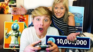 Mom gives Kid 10,000 V-Bucks every 10 Minutes... [MUST WATCH]